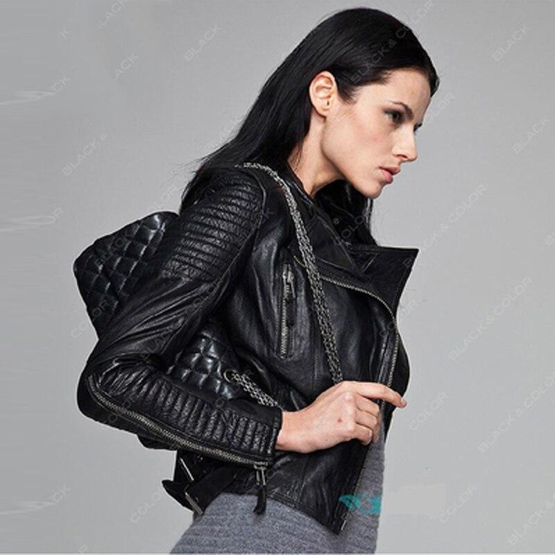 Sheepskin Jackets Women Automotive Real Leather Jackets Coats European and American Style Genuine Leather Jackets Female