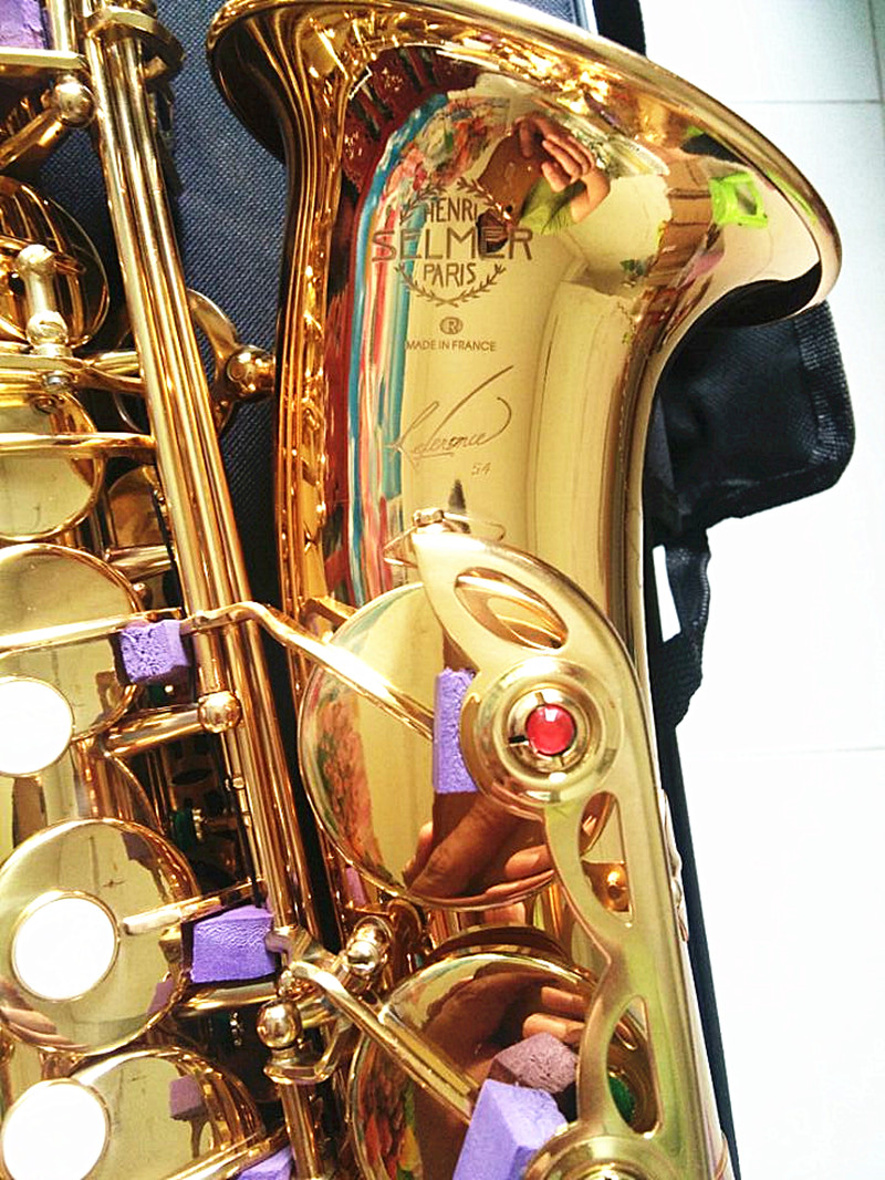 Hot sale Brand new Saxophone Alto instrument Selmer SAS-R54 Saxophone professional brand gold electrophoresis Free shipment 2017 dhl free musical instruments professional henri selmer sax alto bronze saxophone alto sts r54 falling tune e f saxophone