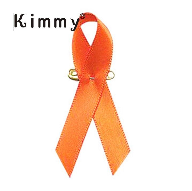 NEW Orange Ribbon Kidney Cancer Leukemia Awareness Lapel Pin Brooch