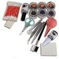 Nuevo Pro falso pestañas de extensión Glue Brush Kit Set Salon pestañas herramientas de composición de mujeres herramienta de la belleza incluye CD