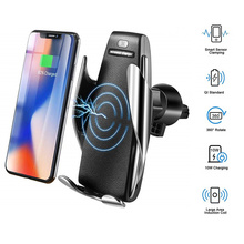 Automatic Clamping Fast Charging 10W Wireless Car Charger Air Vent Car Phone Holder For iPhone Huawei Samsung xiaomi Smart Phone kjmy002 s01 smart 10w wireless fast charging car air purifier