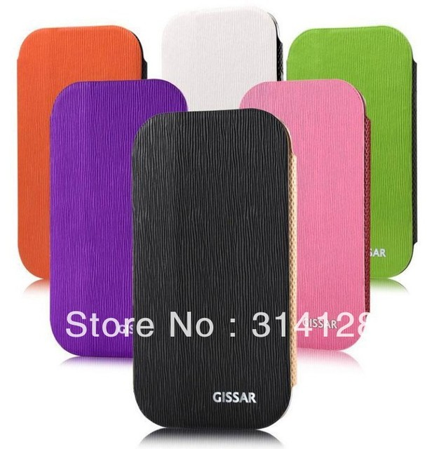 Fringe contrast color  PU leather protective shell for samsung i9300/i9308, six colors