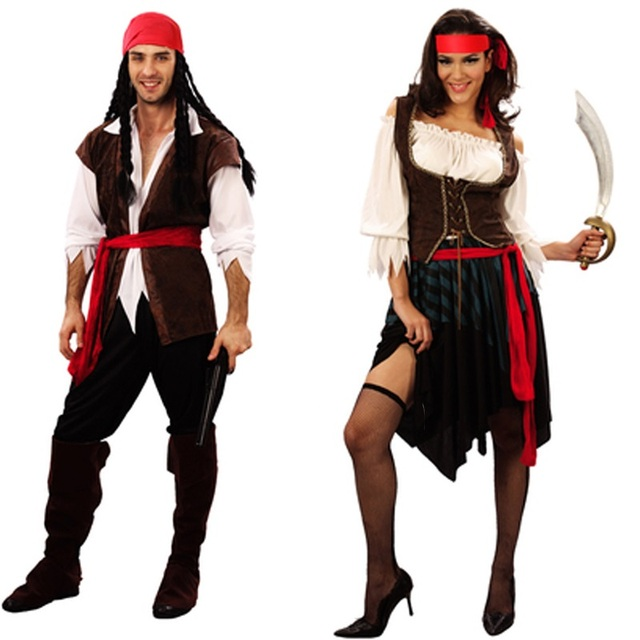 captain pirates of the caribbean jack sparrow pirate woman adult cosplay female men halloween costumes for - Jack Sparrow Halloween Costumes