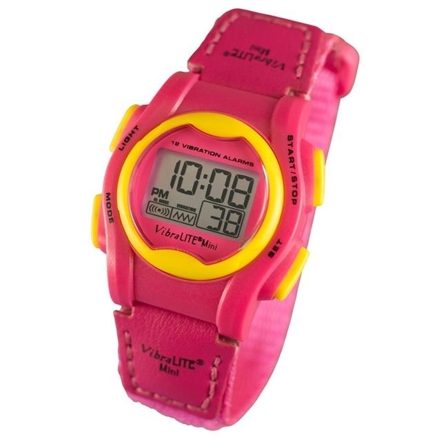 Global Assistive Devices GAD-VMVPN VibraLITE Mini Vibrating Watch with Hot Pink Band gad elmaleh london