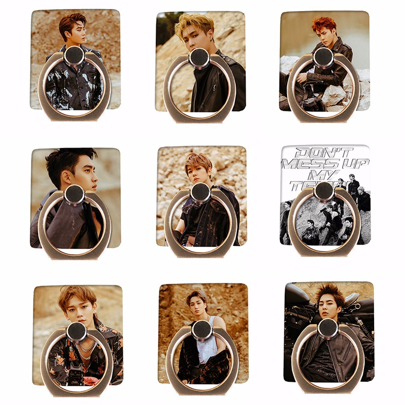 Dynamic Kpop Exo Dont Mess Up My Tempo Phone Stand Holder Adjustable Finger Ring Grip Universal Jewelry Findings & Components