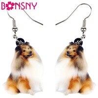 bonsny-statement-acrylic-smile-collie-rough-coated-sheltie-dog-drop-dangle-new-fashion-animal-jewelry-for-women-girls-wholesale