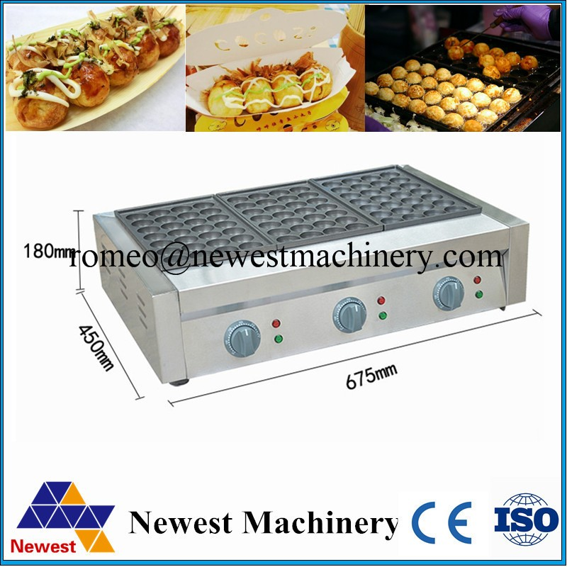 Takoyaki Maker Machine 3 Plate Hot Sale