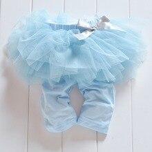 Модные леггинсы-кюлоты для маленьких девочек газовые штаны праздничные юбки-пачки с бантом 3 цвета