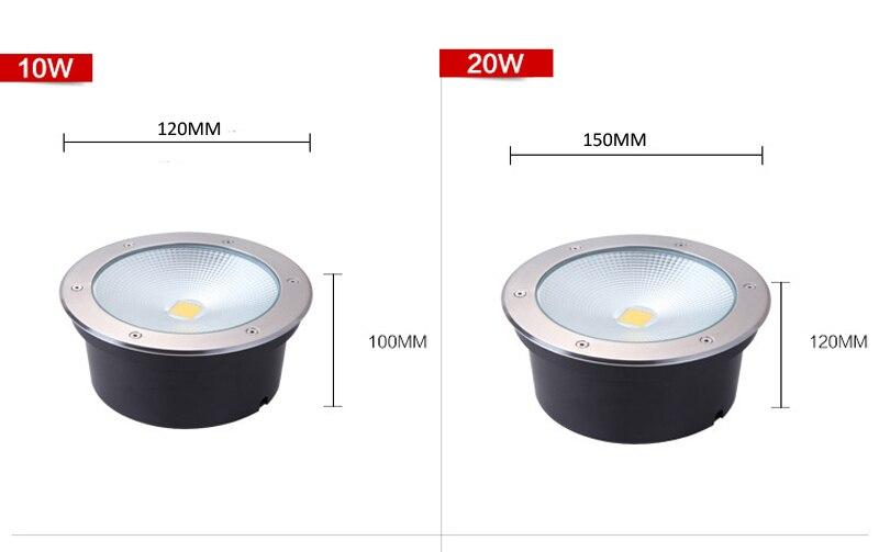 w w Light Underground lâmpadas LED Integrado