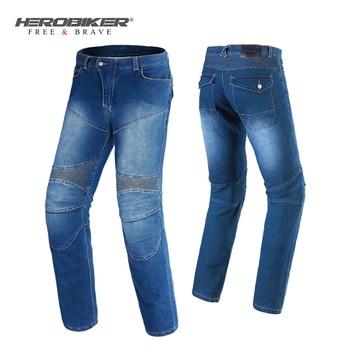 HEROBIKER Motorcycle Pants Motorcycle Jeans Men Motocross Riding Moto Pants Pantalon Protection Motorbike Jeans Trousers