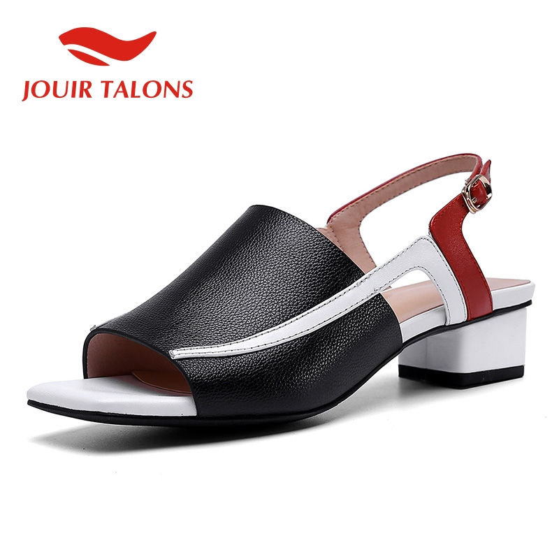 JOUIR TALONS 2019 cow genuine leather pigskin sexy chunky heels women Shoes leisure sandals woman summer open toe shoes womanJOUIR TALONS 2019 cow genuine leather pigskin sexy chunky heels women Shoes leisure sandals woman summer open toe shoes woman