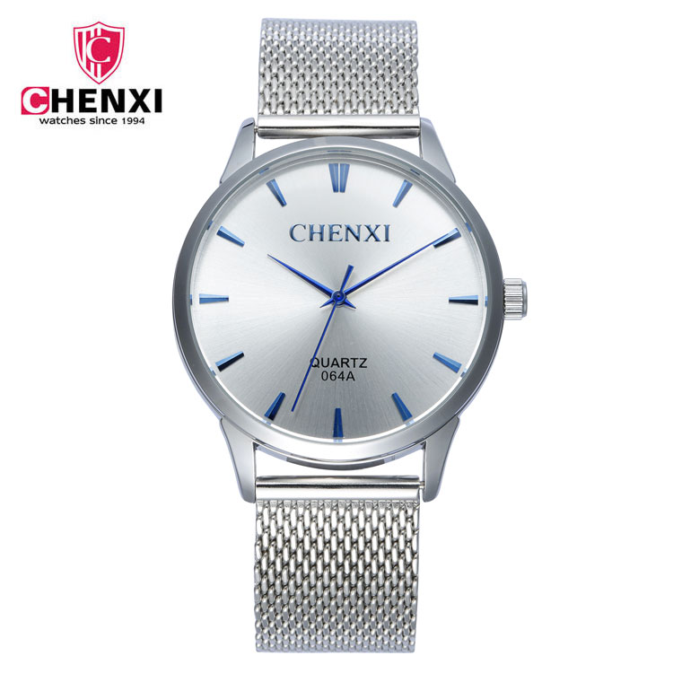CHENXI Brand Fashion Simple Leather Women Quartz Wristwatch Small Dial Design Gift Clock Female Watches Gold&Silver Ladies Watc