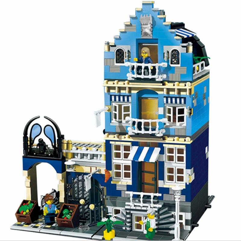 ФОТО DHL  Lepin 15007 LELE 30013 1275Pcs Children's Educational Toys For Boys City Creator Grand Emporium Model Building Kits Blocks