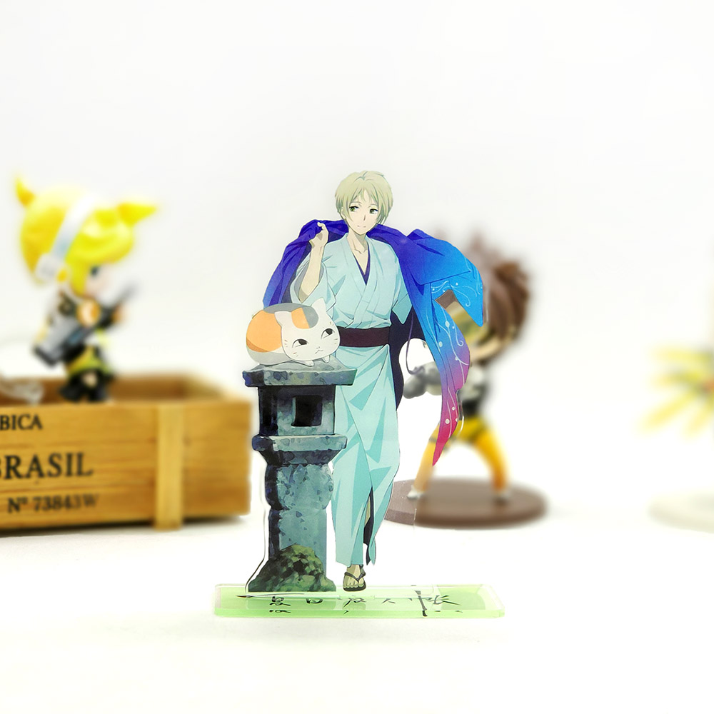 Love Thank You Natsume Yuujinchou Book Of Friends Takashi Madara Neco Acrylic Stand Figure Model Plate Holder Cake Topper Anime