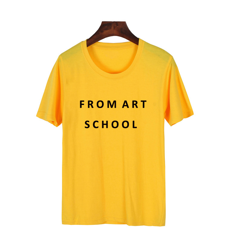 Pkorli From Art School T-Shirt Women Causal Letter Printed T Shirt Femme Round Neck Tumblr Style Geek Aesthetic Summer Tops