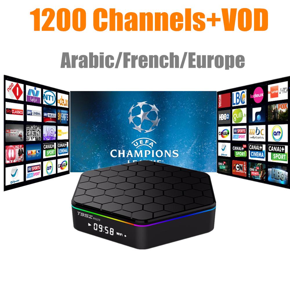 Prix pour GOTiT T95Z Plus + Français Arabe IPTV Abonnement Canal + M6 MBC Be1n Sfr Amlogic S905 2G/16G XBMC 17.0 H.265 4 K Android 6.0 TV boîte