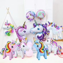 unicorn kids toys party balloons decoration birthday supplies inflatable walking balloon