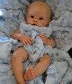 20 inch soft vinyl DIY reborn baby doll Krista kits reborn toddler blank vinyl doll head and 3/4 vinyl limbs