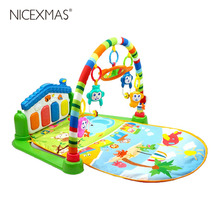 1pc/set Musical Playing Educational Cartoons Playing Mat Educational Toys for Birthday Baby Education Gift