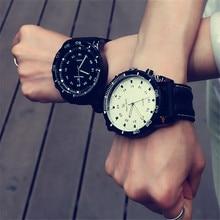 Corea Moda Relogio Hombres Necesarios Deporte Dial Grande Reloj Estudiante De Silicona Neutra Relojes de Negocios Reloj de Pulsera Nuevo 2017