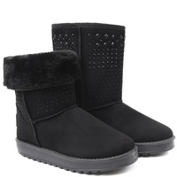 UKNIKI 2018 New Fashion Basic Solid Mid Calf Snow Shoes Women Winter Boots