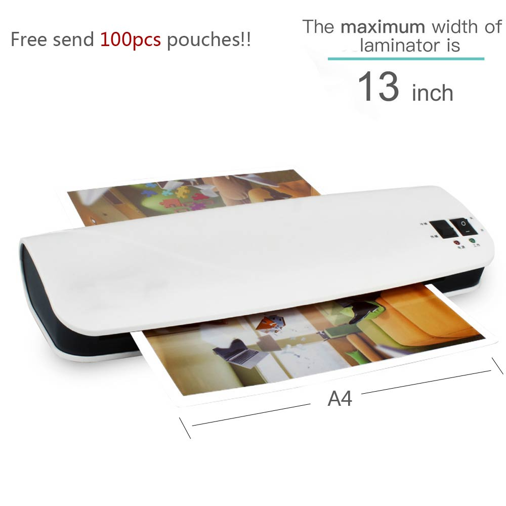 Newest 13 inch Thermal Office Hot and Cold Laminator Machine for A4 Document Photo Blister Packaging Plastic Film Roll Laminator cewaal 2017 cla403l a4 photo laminator paper film document thermal hot