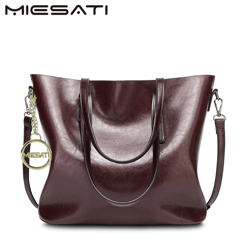MIESATI Fashion Women Handbag PU Oil Wax Leather Women Bag Large Capacity Tote Bag Big Ladies Shoulder Bags Famous Brand clutch 2018 new women bag ladies shoulder bag high quality pu leather ladies handbag large capacity tote big female shopping bag ll491
