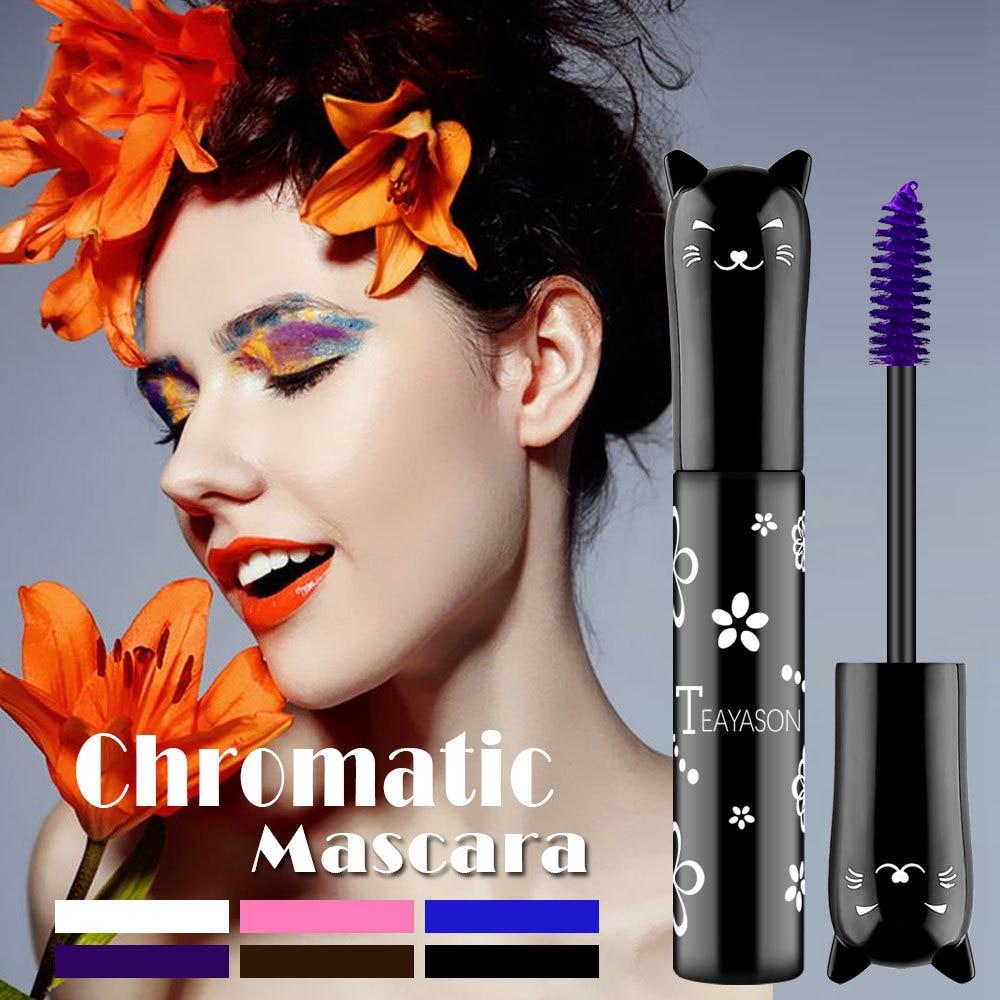 Color Mascara 4D Silk Fiber Lash Mascara Waterproof Fast Dry Eyelashes Extension Curling Lengthening Makeup Eye Lashes TSLM1 1