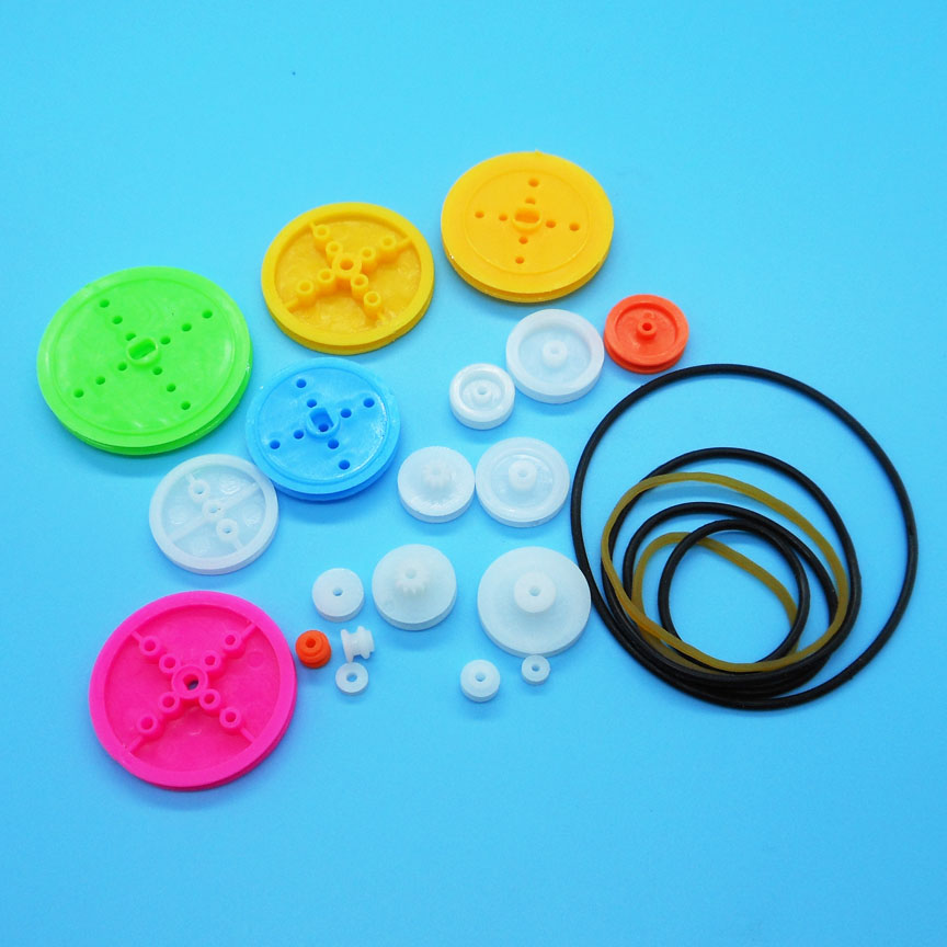 Mixed19 Kinds of Belt Wheel and 6 Kinds of Belt Model Unmanned Robot Toy Parts Technology DIY Pulley Accessory MIX25Mixed19 Kinds of Belt Wheel and 6 Kinds of Belt Model Unmanned Robot Toy Parts Technology DIY Pulley Accessory MIX25