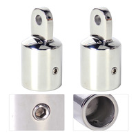 2PCS High Quality Eye End Cap Bimini Top Fitting Stainless Steel Hardware Marine Boat Yacht For