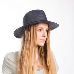 Muchique panama hat summer sun hats for women beige paper straw panama fedora hat with ribbon.jpg 250x250