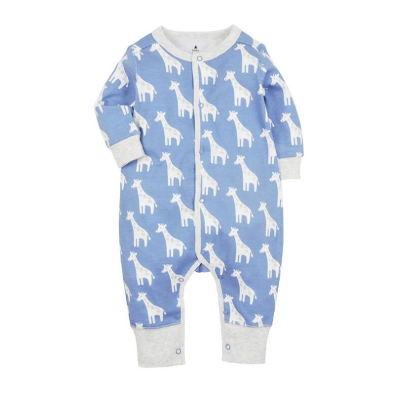 2018 new Baby Girls & Boys Pajamas, 100% cotton brand jumpsuits meninas clothes babies , newborn 3-24M   rompers   baby clothes