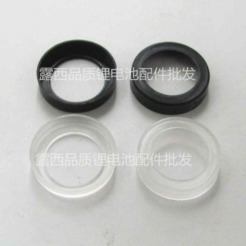 50pcs Factory Wholesale 18650 Lithium Battery Sealing Rubber Ring 18650 Ring Black Nickel Metal Hydride Nickel Cadmium Battery