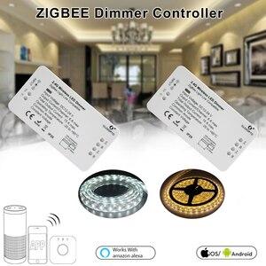 Image 2 - ZIGBEE Led コントローラエコー互換スマート LED コントローラ RGBCCT/WW/CW zigbee の Led 調光コントローラー DC12 24V ZLL コントローラ led