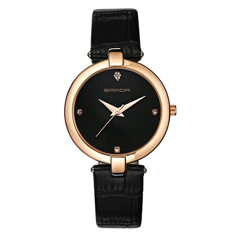 Montres à Quartz bracelet en cuir mode chic pour femmes