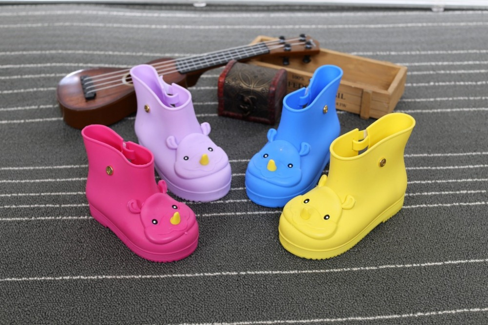 Children Boots Mini Sed Rhino Girls Rainboots Duck Jelly Shoes Boys Rain  Boots Short Water Shoes Children Boots 2aa1f05333c9