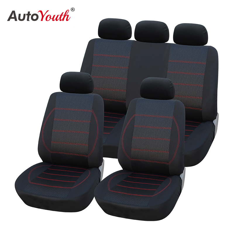 AUTOYOUTH Jacquard+Polyester Fabric Car <font><b>Seat</b></font> <font><b>Covers</b></font> Universal Fit Most Interior Accessories For skoda rapid <font><b>peugeot</b></font> <font><b>206</b></font> camry 40 image