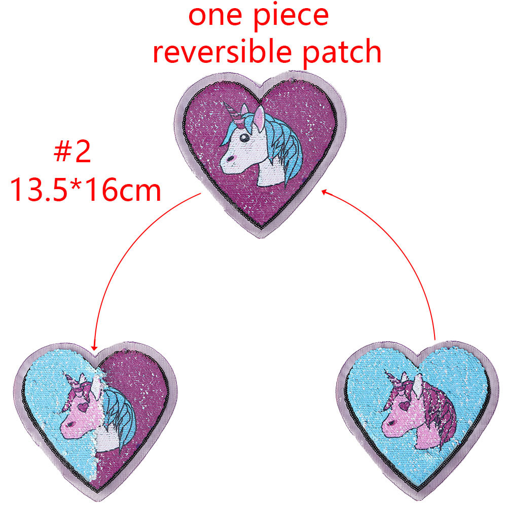 New Square Unicorn Reversible Change Color Sequins Sew On Patches For Clothes Diy Patch Applique Bag Clothing Coat Jeans Craft Aromatic Flavor Arts,crafts & Sewing