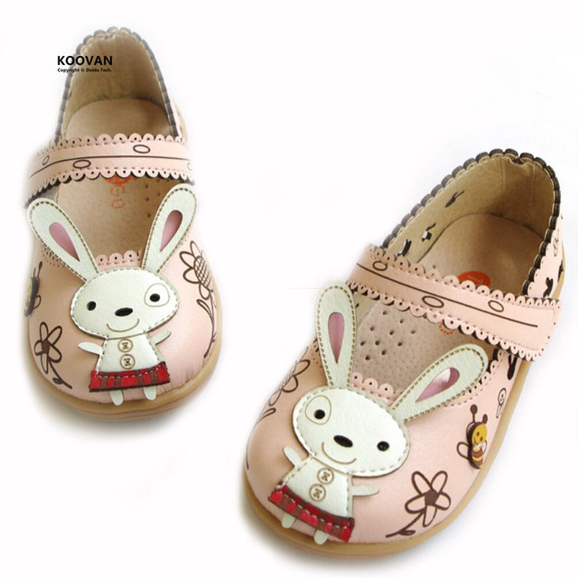 Koovan Children Flats 2017 Top Sale Child Babys Rabbit Leather Shoes Boys Girls Children Shoes Casual Fashion Sneakers Hollow