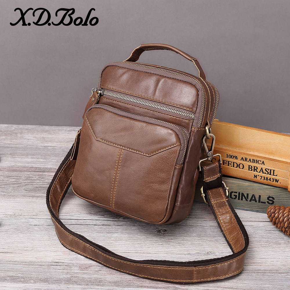 XDBOLO 2019 Men Bag Leather  Men Shoulder Bag Single Strap Men's Messenger Bag Solid Crossbody Bag For Men Wholesale