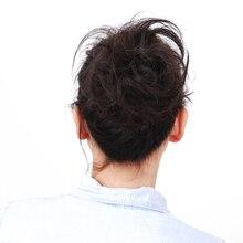 Oubeca синтетические гибкие волосы булочка для наращивания прямой пончик-шиньон эластичные резинки для Волос обертывание для наращивания конского хвоста для женщин