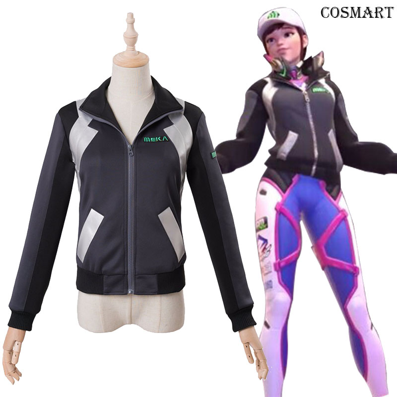 [End of Oct.]Game OW D.VA Shooting Star Baseball Jacket Cosplay Coat Cosplay Hat Cap for women men Free shipping