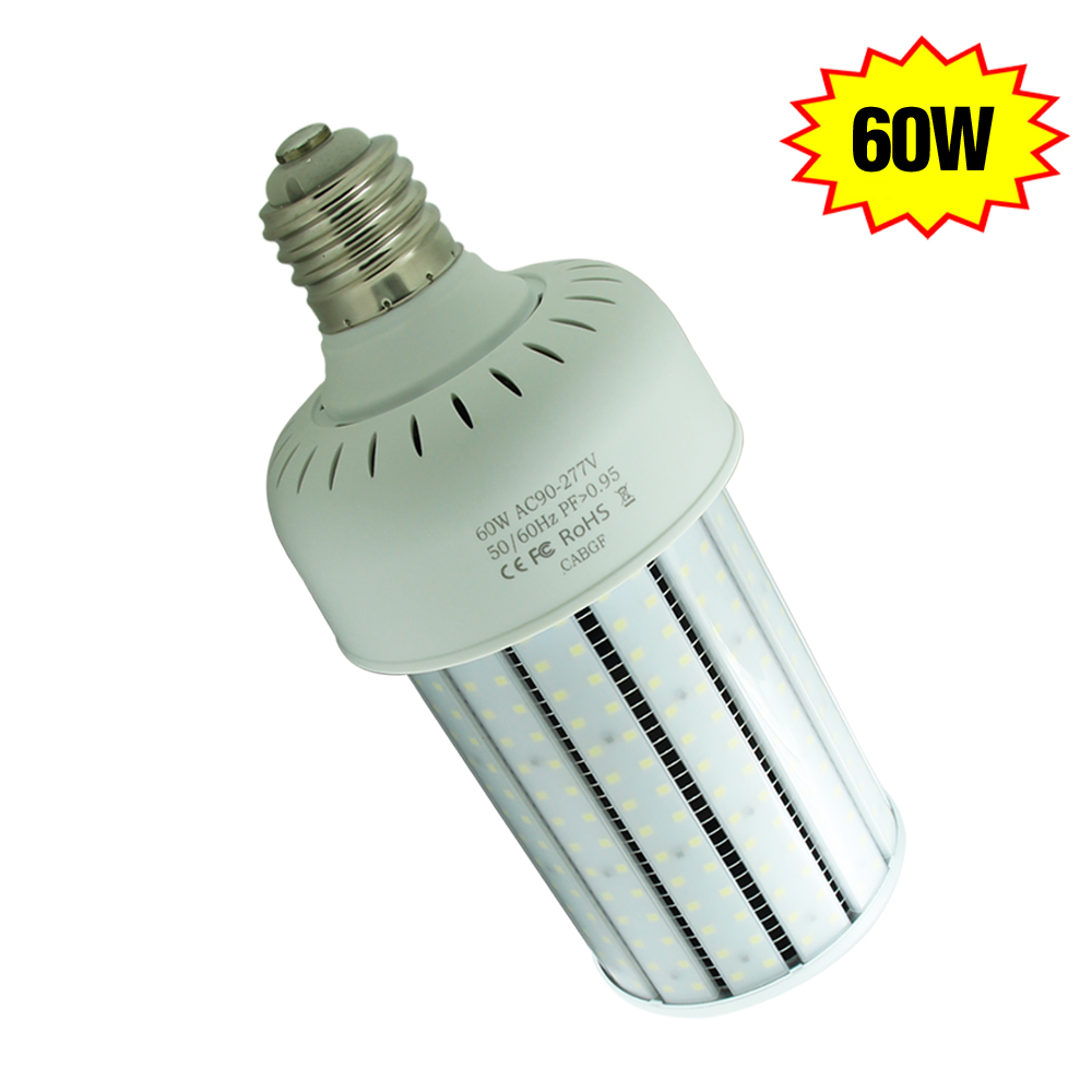 Led Corn Bulb Retrofit 60 Watt 6000k E39 E40 250w Hps Replacement Outdoor Wall Pack Post Top Lighting
