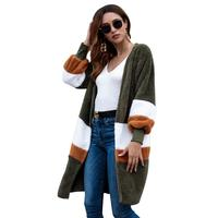 Long Cardigan Women 2019Autumn Fashion Printed Long Sleeve Women Cardigan Casual Irregular Wrap Tops Plus Size Thin Sweater