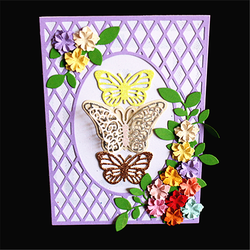 AZSG Beautiful Butterfly Rectangle Cutting Die for DIY Scrapbooking Decoretive Embossing Stencial DIY Decoative Cards die cutter in Cutting Dies from Home Garden