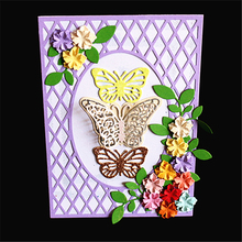 AZSG Beautiful Butterfly Rectangle Cutting Die for DIY Scrapbooking Decoretive Embossing Stencial Decoative Cards die cutter