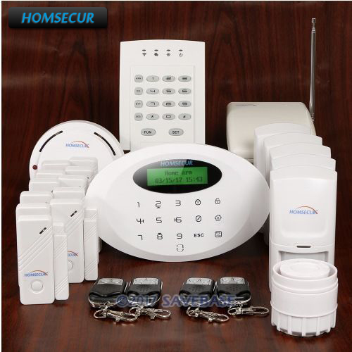 HOMSECUR Wireless wired GSM Burglar Intruder font b Alarm b font System With Signal Booster