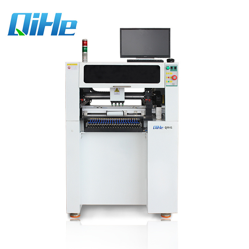 QM41 Qihe Pcb Assembly Mount Component 5050 SMD LED Pick and Place Machine For LED Assembly Line
