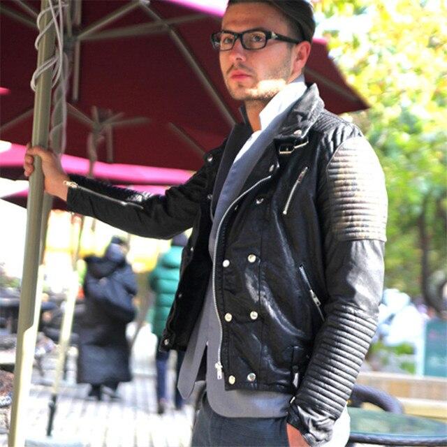 Veste Style Cuir Hommes Européen Arrivée Nouvelle 2016 En Mode De RqZvaw