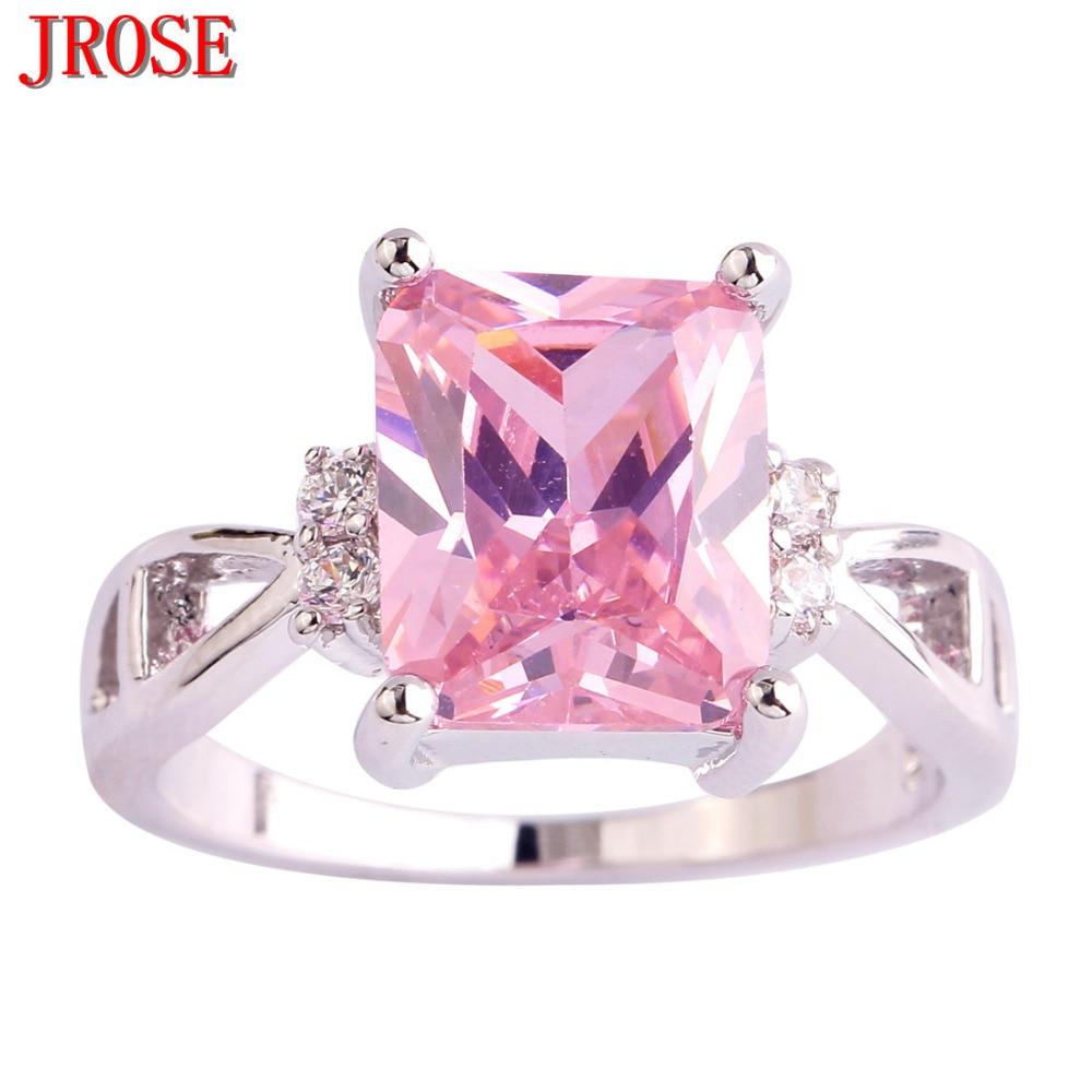 JROSE Engagement New Pink & White & Rainbow CZ & Blue & Purple ...